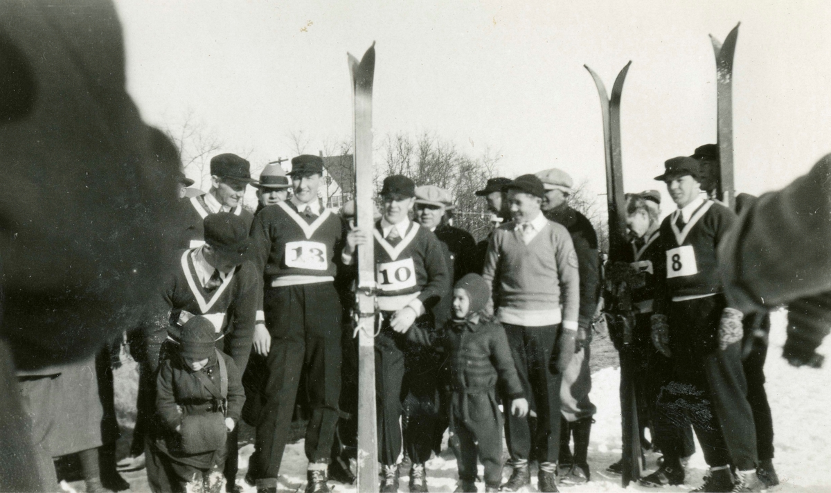Norwegian skiers with family in Lake Placid