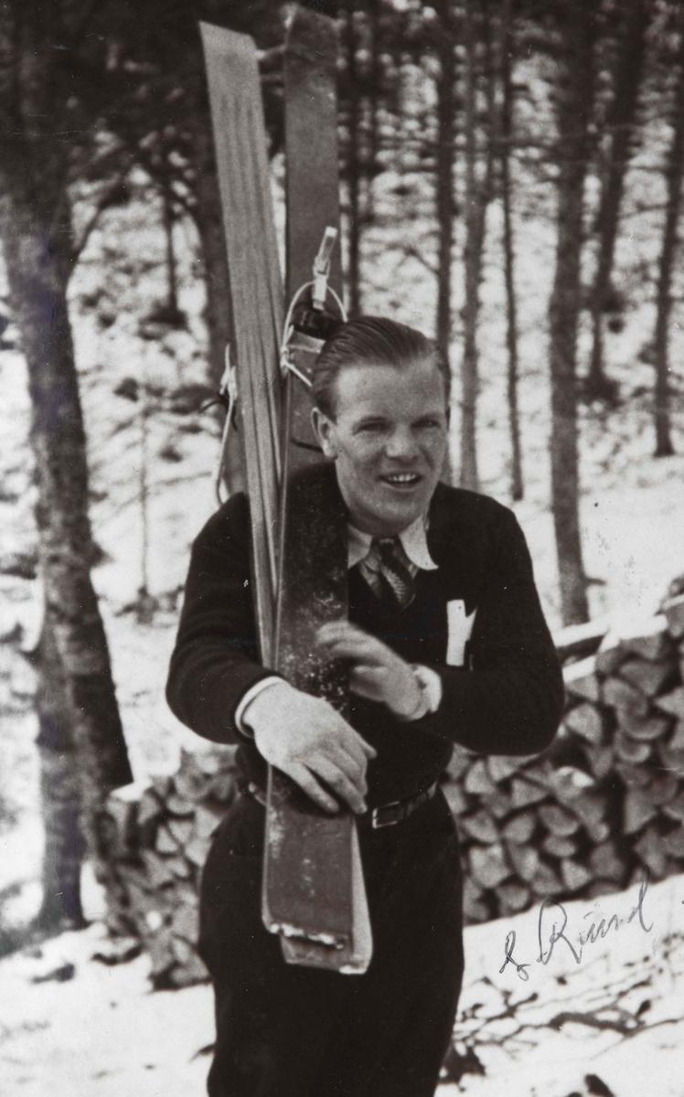 Athlete Sigmund Ruud during training