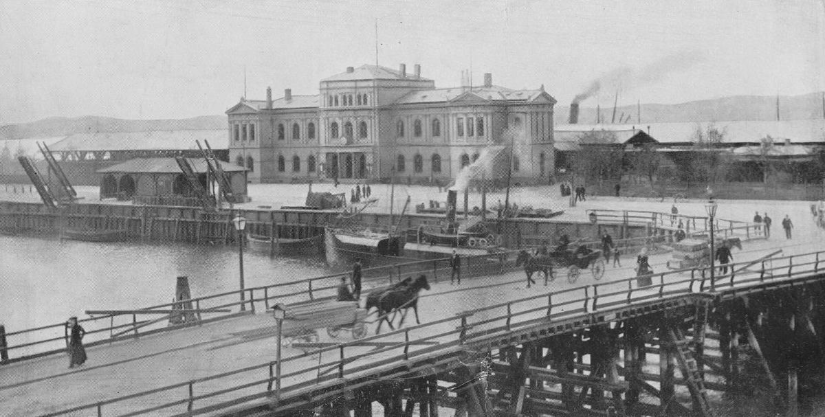 Trondheim stasjon sett fra bysiden.