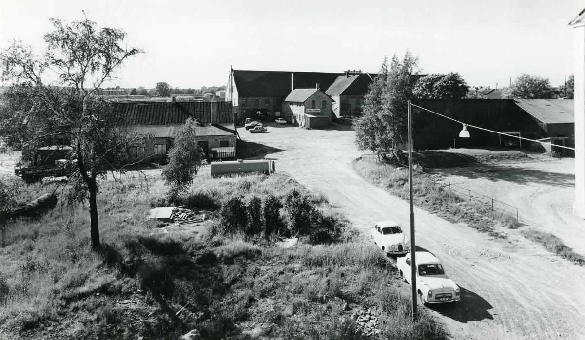 Bild från glasbruksområdet på Herrhagen tagen 1964.