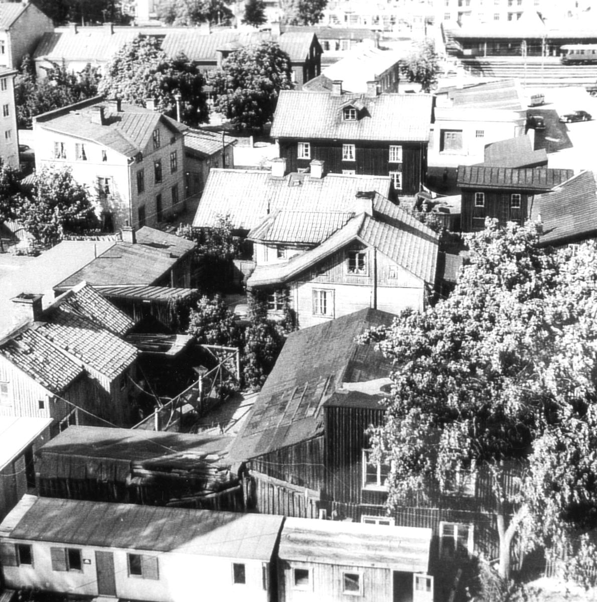 Bild inifrån kvarteret Orren i Viken tagen 1960.