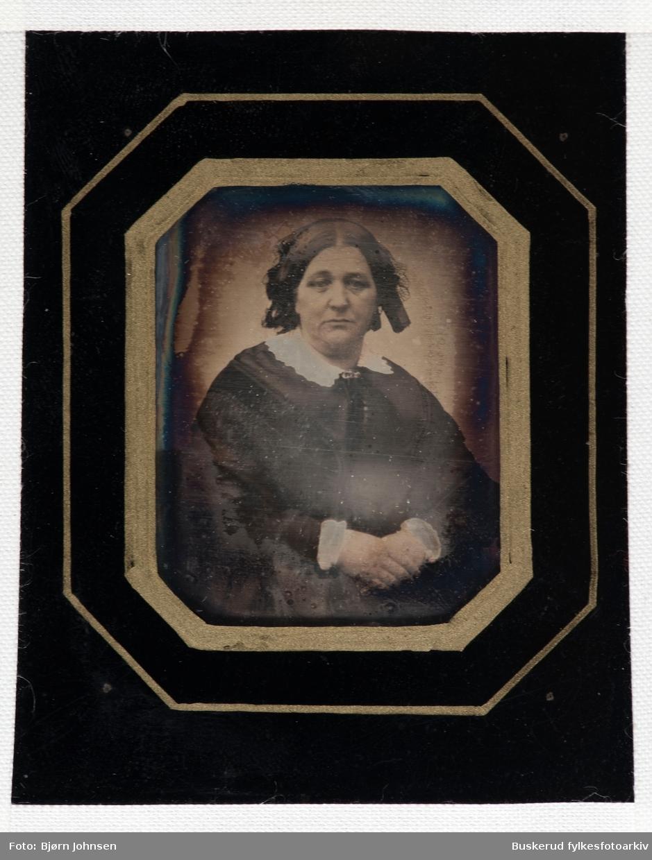 Daguerreotypi Kvinneportrett Bestmor Kaurin ca 1850