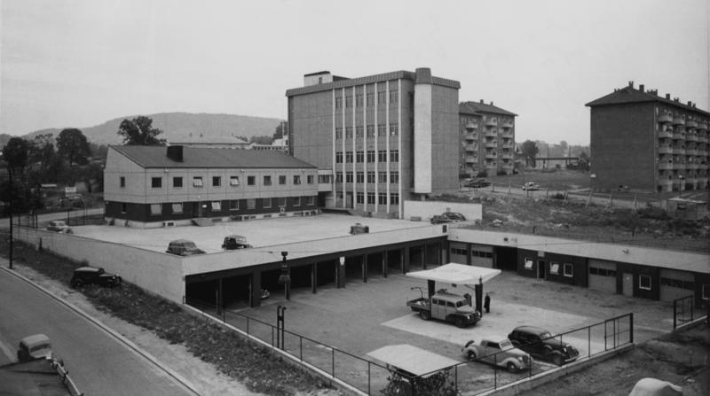 Bilde av bygningen som er tilknyttet Åsen sentral