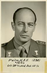 Porträtt av Karl Arne Edvard Palm, kapten vid Västerbottens