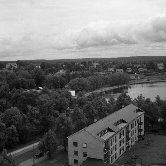 Växjöpanorama, södra stadsdelen, mot öster1966. Fotograf: Sam Selling.