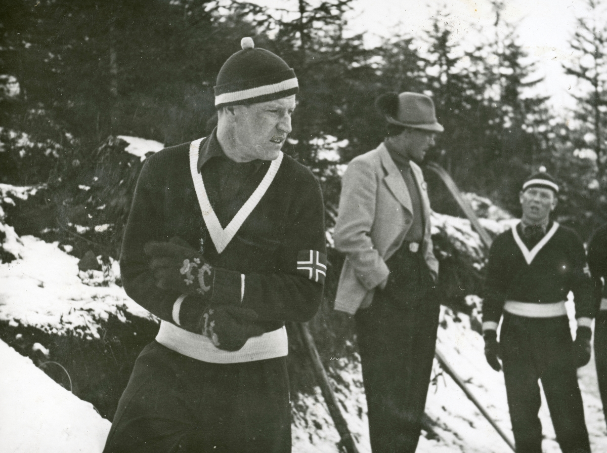 Athlete Birger Ruud during competition
