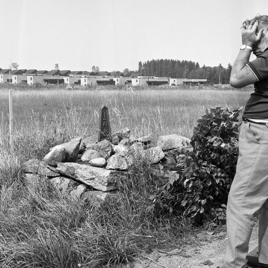 Milsten med fundament. - Kulturparken Småland   Smålands museum ... 684d215ad9df1