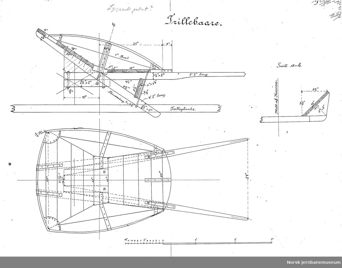 """Trillebaare Påført med blyant """"Lysgaards patent?"""""""