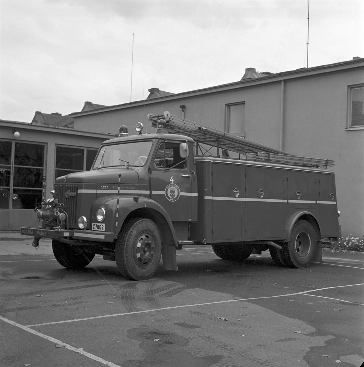 Brandkåren. Den 4 oktober 1971 Brandchef Dahlberg