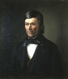 Portrett av eidsvollsmann Hans Haslum.