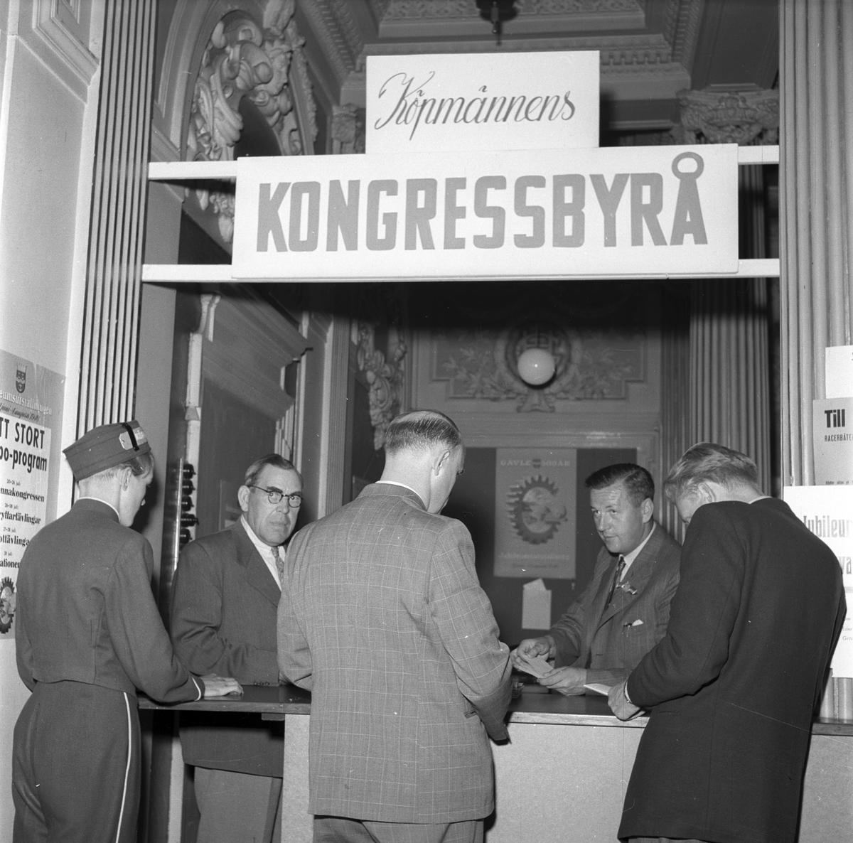 Reportage för tidningen Köpmannen. 1946.