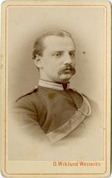 Porträtt av Carl William Stjernblad, löjtnant vid Skånska dr
