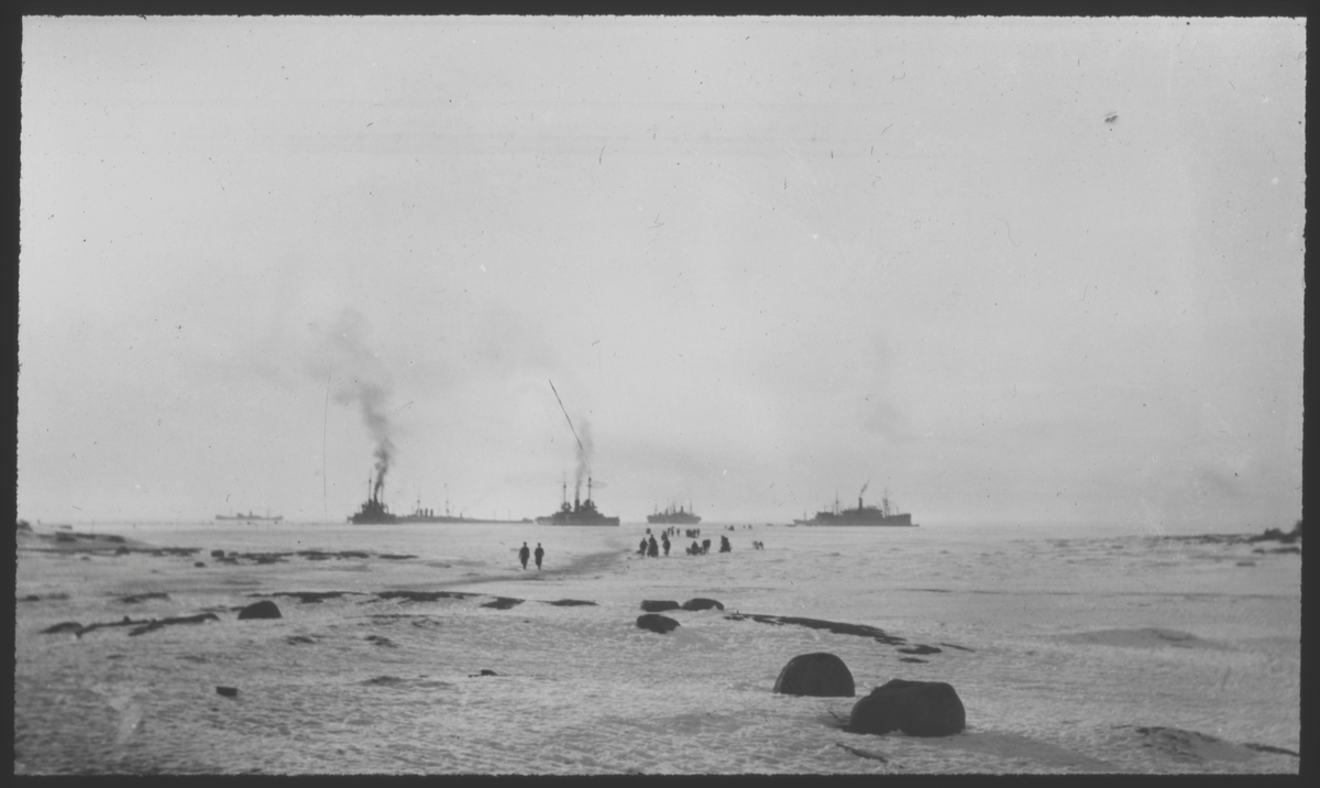 Fartyg vid  Åland 1918