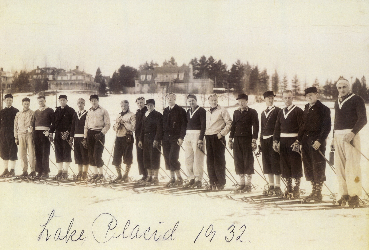 The Norwegian skiing team at the OG in Lake Placid