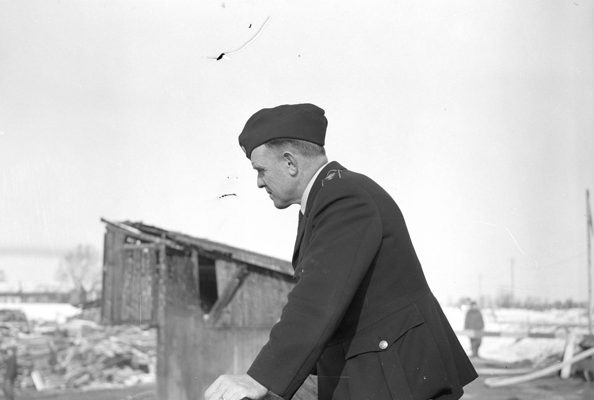Eldsvåda i Valbo lådfabrik. 19 mars 1949.