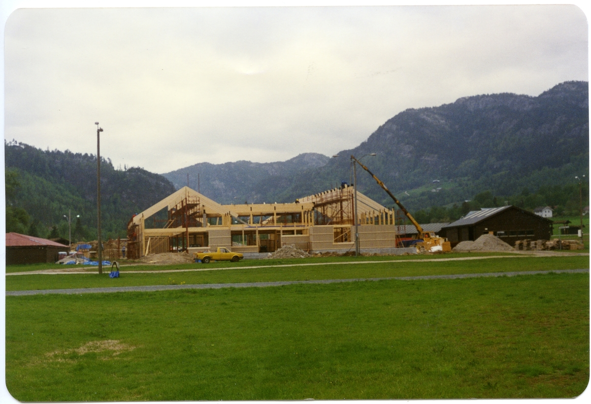 Bygning på dyrskuplassen.