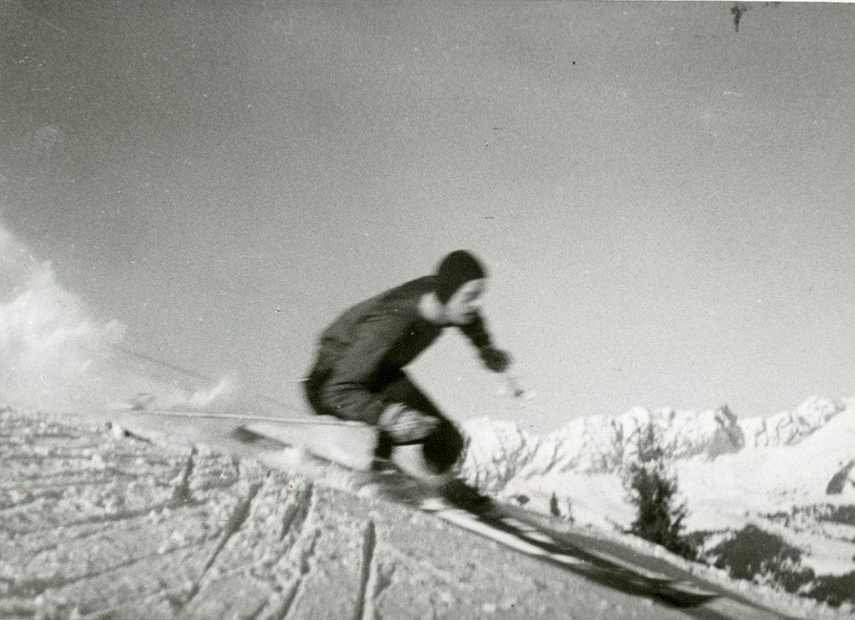 Athlete Alf Konningen in action