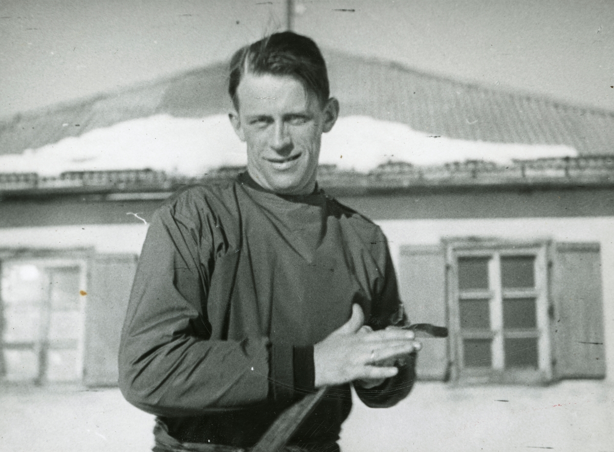 Athlete Alf Konningen in France