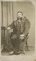 Fangeportrett. Gustav Gustavson, arrestert i 1870, innsatt i