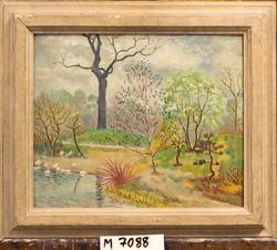 Spring Landscape [Oljemålning]