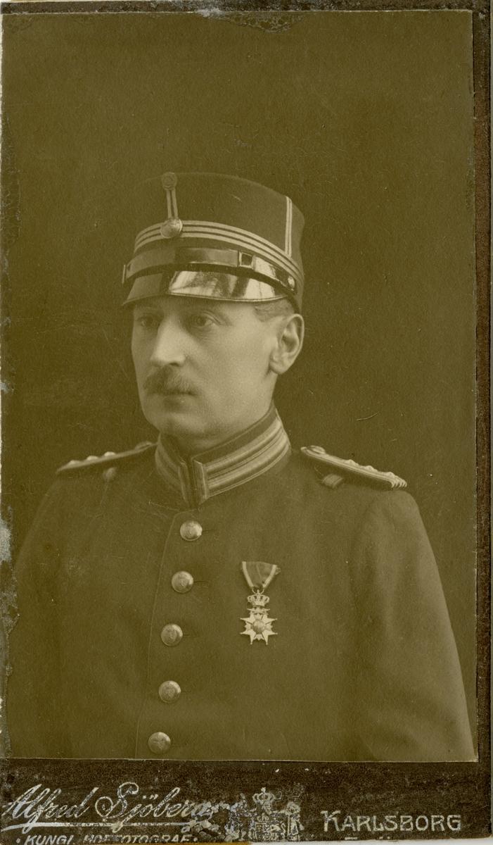 Porträtt av Rolf Herman Söderberg, major vid Hälsinge regemente I 14.