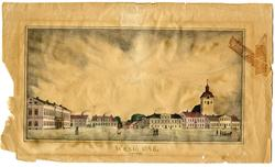 Stortorget i Wexiö [Litografi]