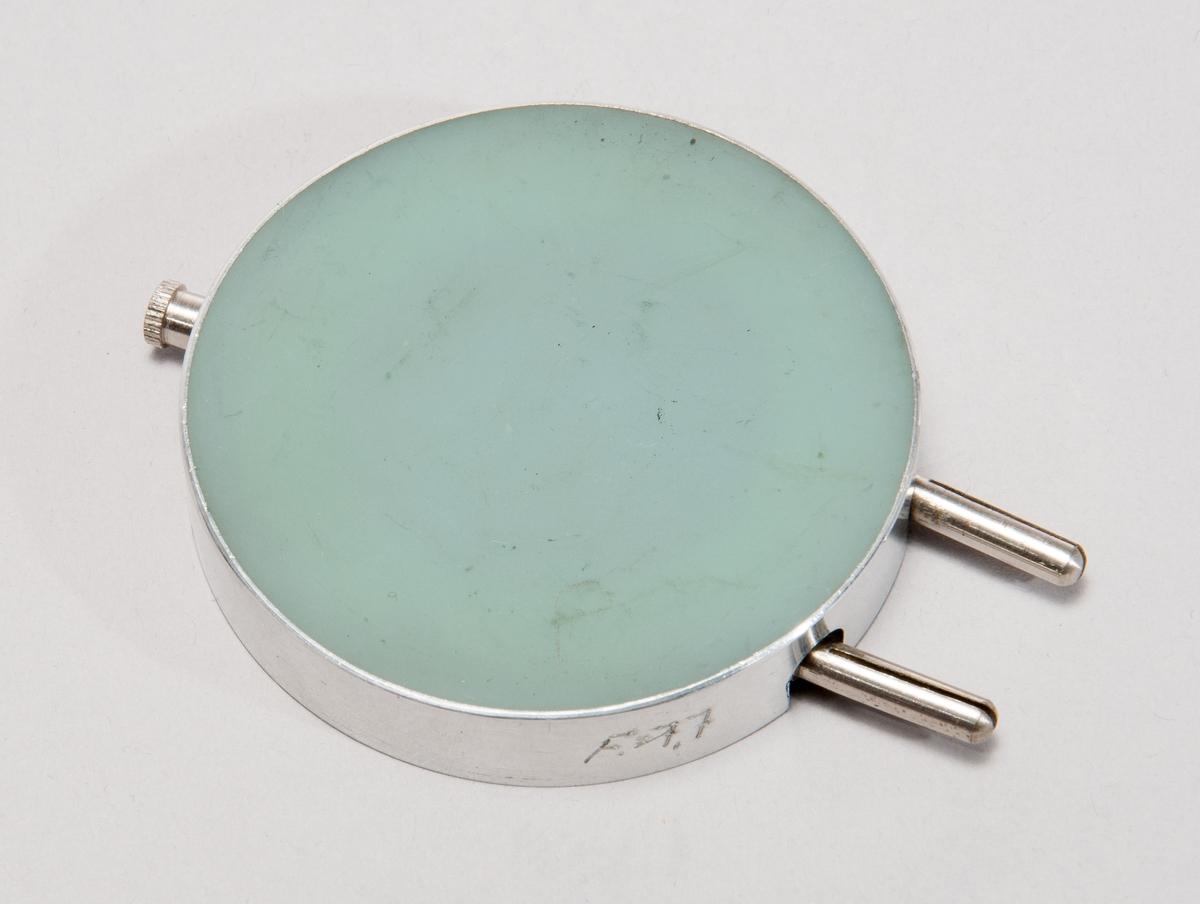 "Fotoelektrisk cell, typ S 60, med stickproppsanslutning. Märkt ""Original Dr. B. Lange"", samt ""F=7,7""."