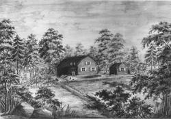 Tavla, signerad Rönningen den 25 juli 1856.
