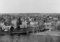 Del av Gävle från Trefaldighetskyrkans torn mot sydväst.