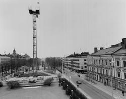 """Gävle stad – Norr, Esplanaden med utställningstornet """"Högfär"""