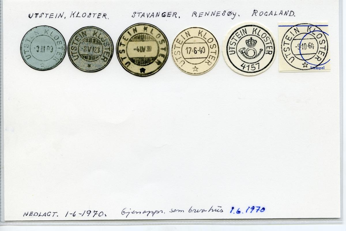 Stempelkatalog 4157 Utstein Kloster, Stavanger, Rennesøy, Rogaland