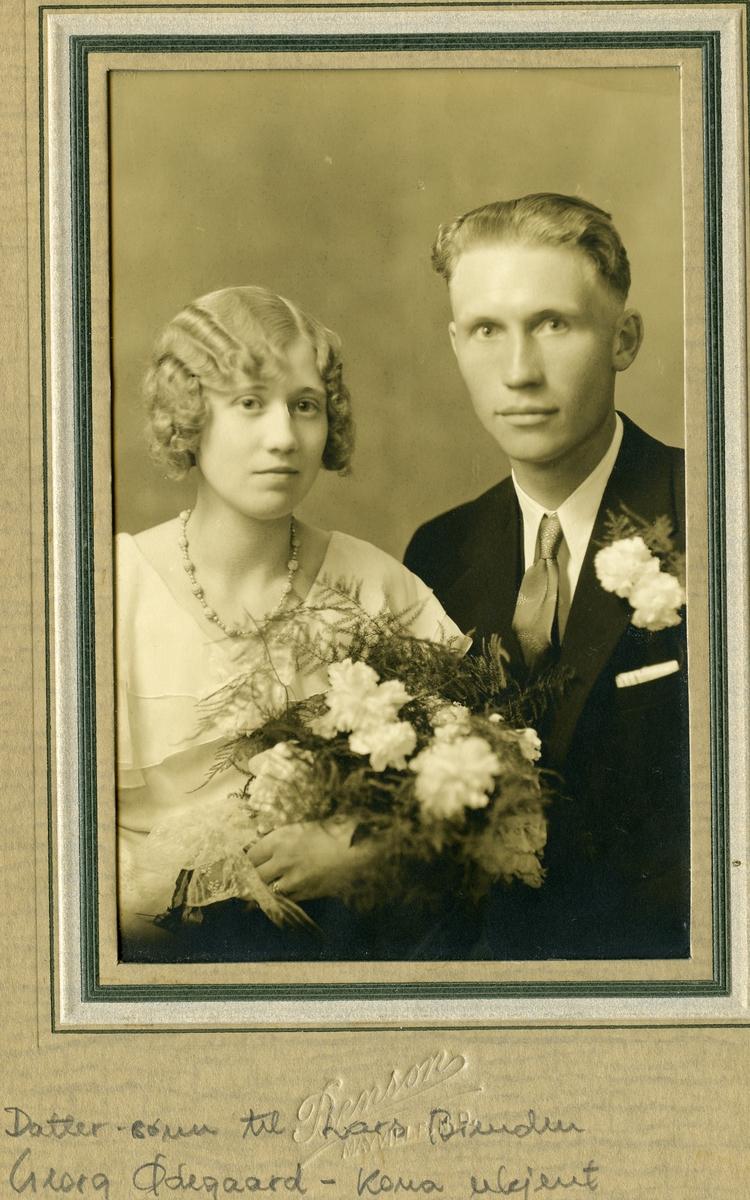 Georg Ødegaard med kone.