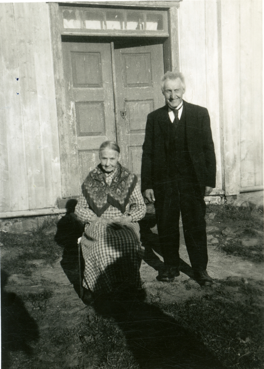 Syver Øvergaard med kona Ingeborg.