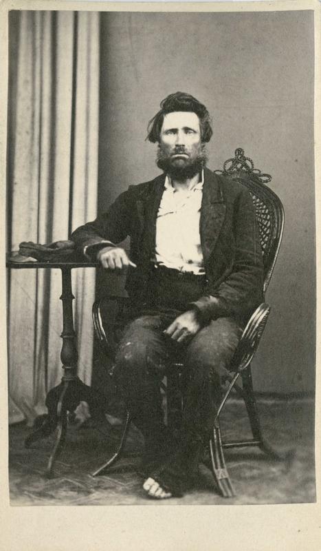 Hans Amundsen (Kjosen), Larvik, arrestert i 1866 eller 1867, innsatt i distriktsfengslet i Hokksund for drukkenskap.