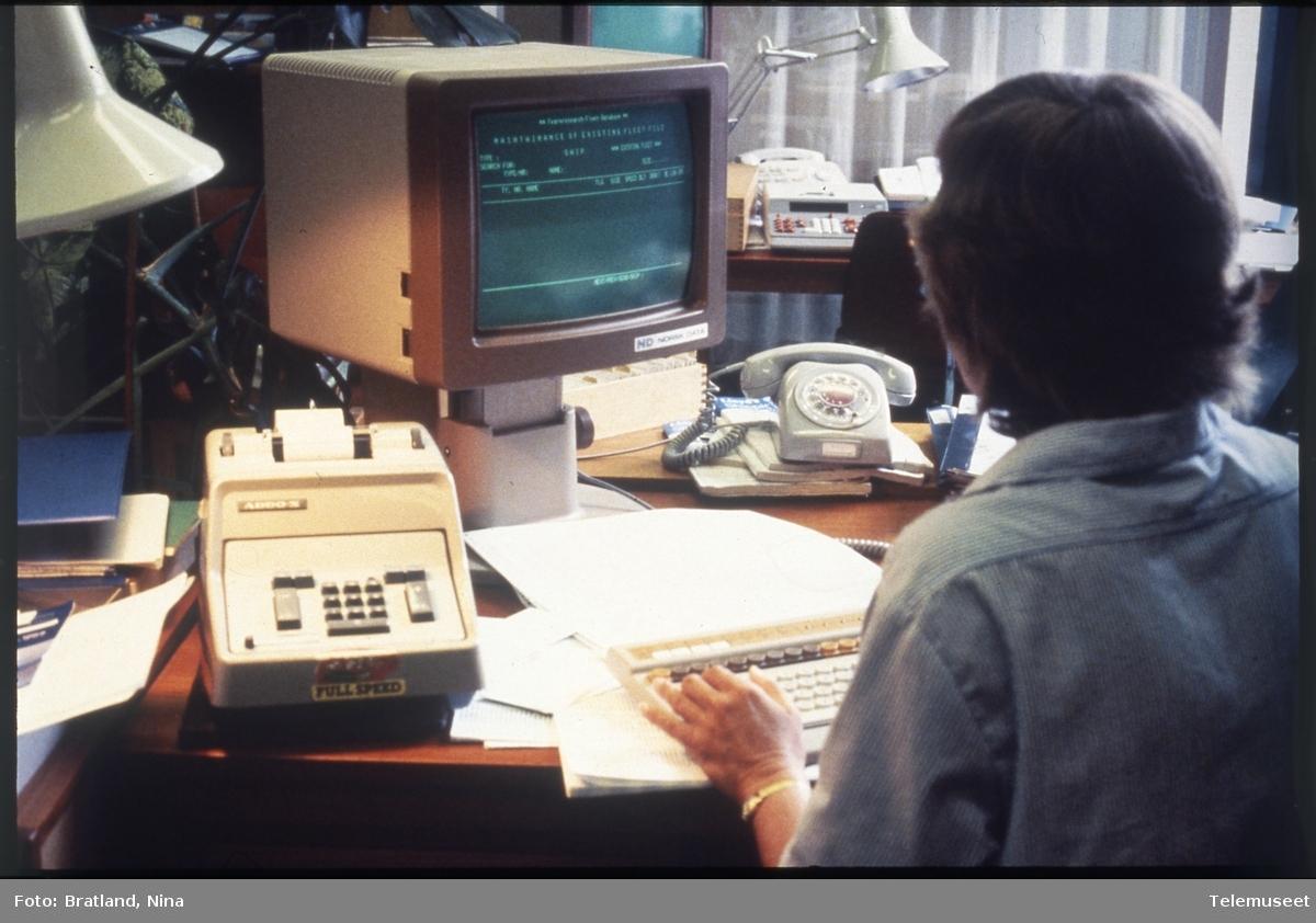 Arbeidssituasjon kontormaskiner Norsk Data