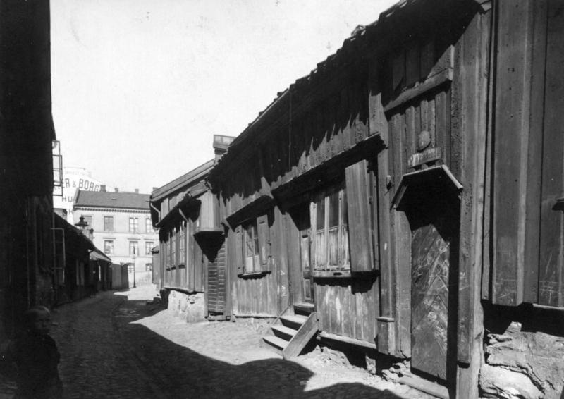 Gammel trebebyggelse på Grønland