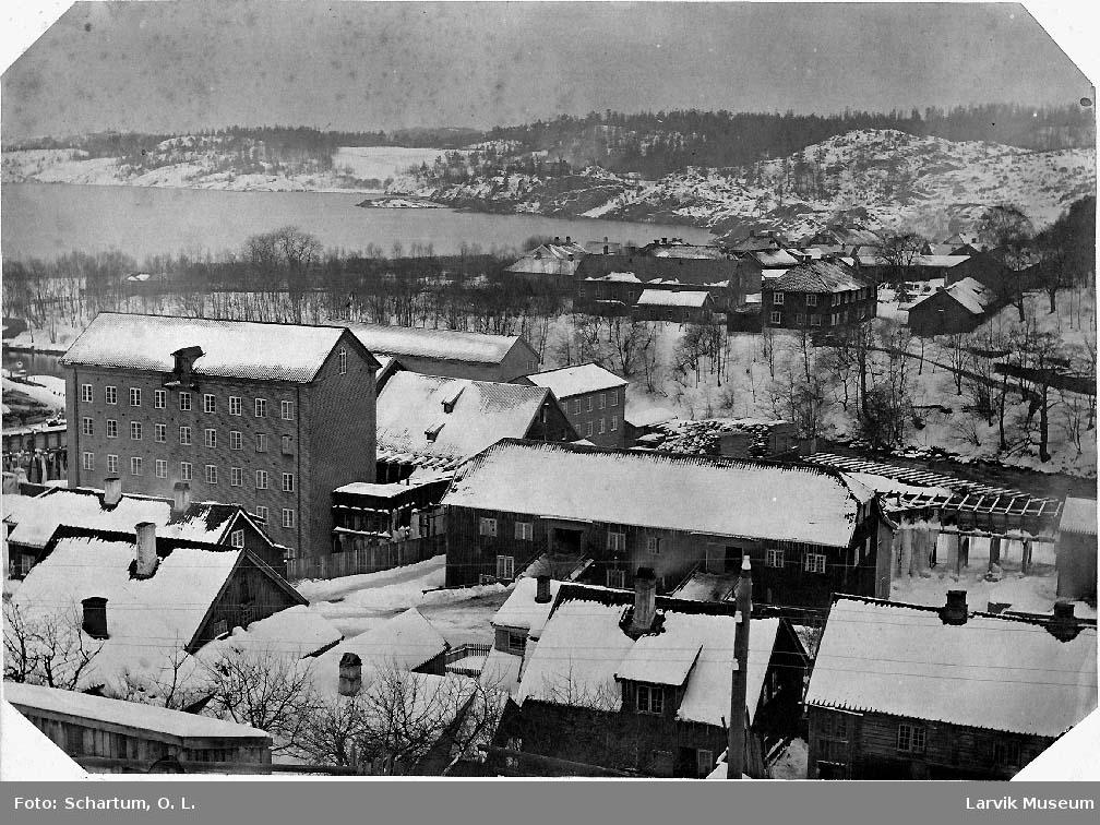 Hammerdalen, Langestrand, Treschow Fritzøe, bygninger, Farriselva