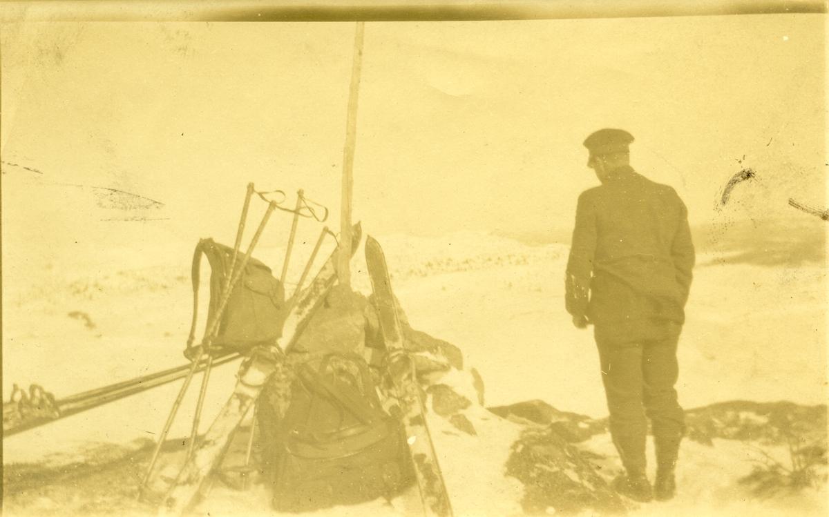Anders Bøhle. Påsketur til Gol i 1923.