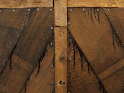 Detalj av trebåten Vaaghals, planker og nagler.. Foto/Photo
