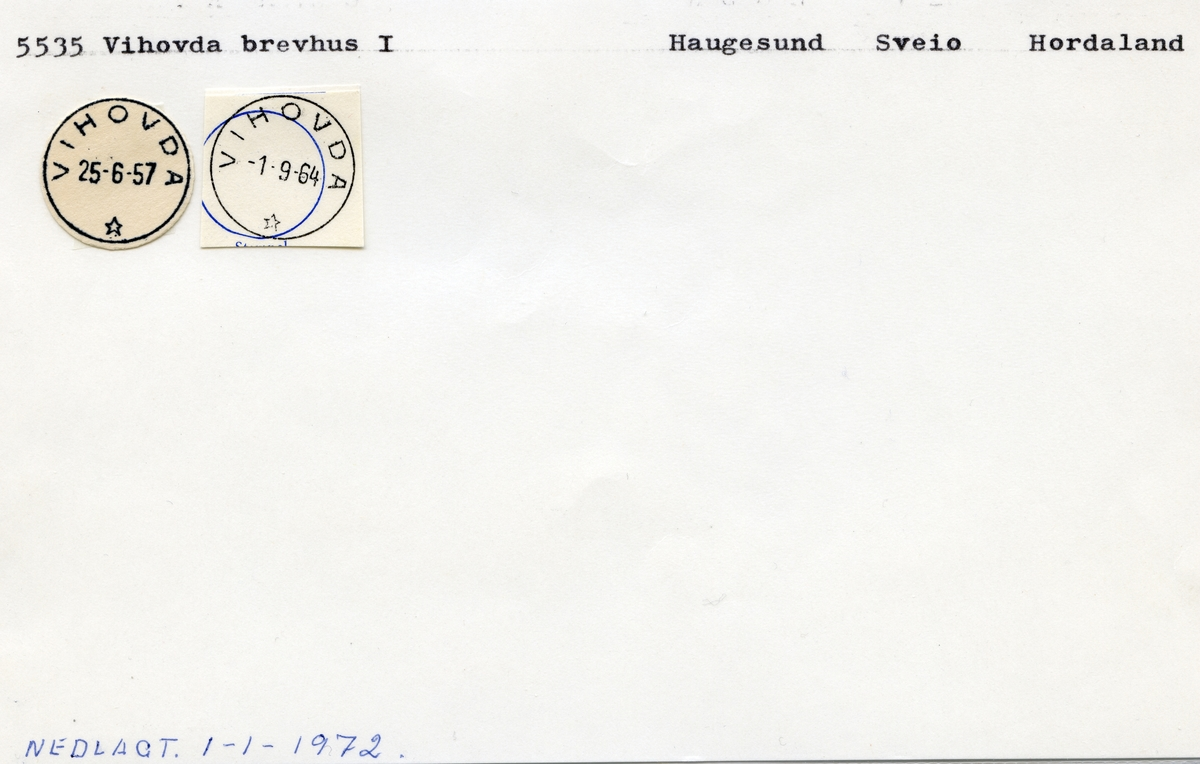 5535 Vihovda, Haugesund, Sveio, Hordaland