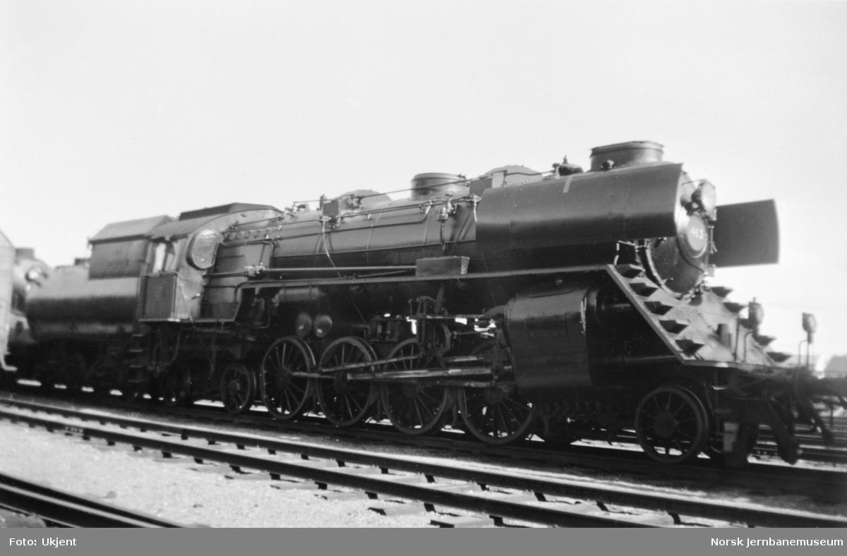 NSB damplokomotiv type 49a nr. 463