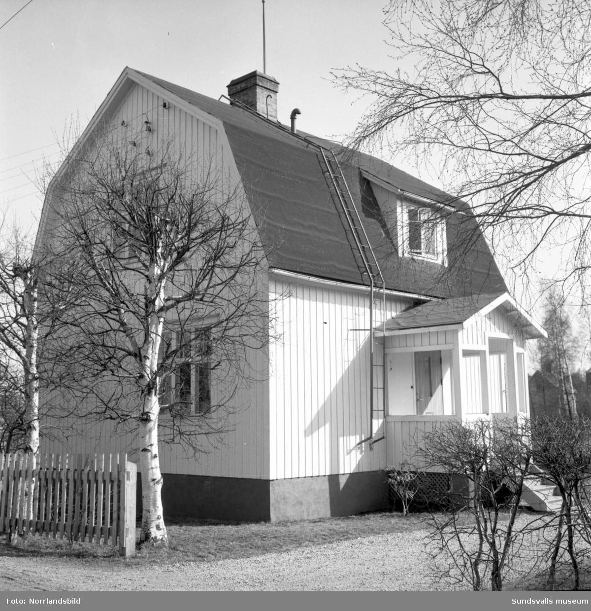 Numera rivet bostadshus vid Linneagatan 13 i västra Skönsberg.