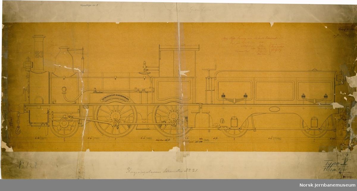 NSB damplok type 5a (nr. 21)