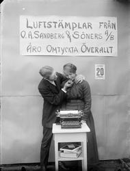 Reklam för luftstämplar från O. A. Sandberg & Söners AB