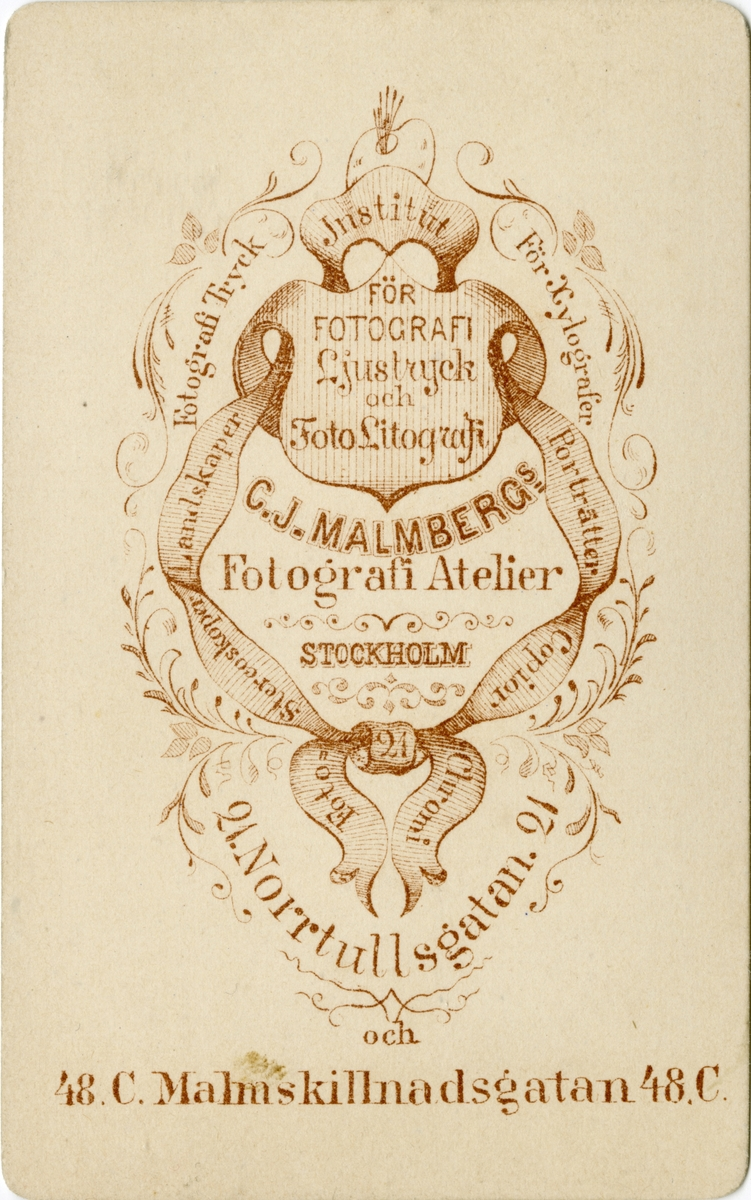 Porträtt av Fredrik Wilhelm Mauritz Braun, löjtnant vid Kalmar regemente.  Se även bild AMA.0002209 och AMA.0021832.