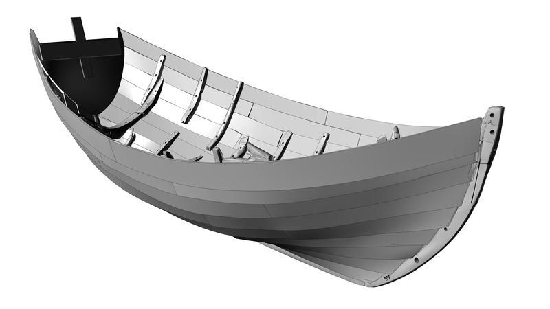3D-oppmåling av den ferdige modellen - denne gir grunnlaget for rekonstruksjonen i full skala.