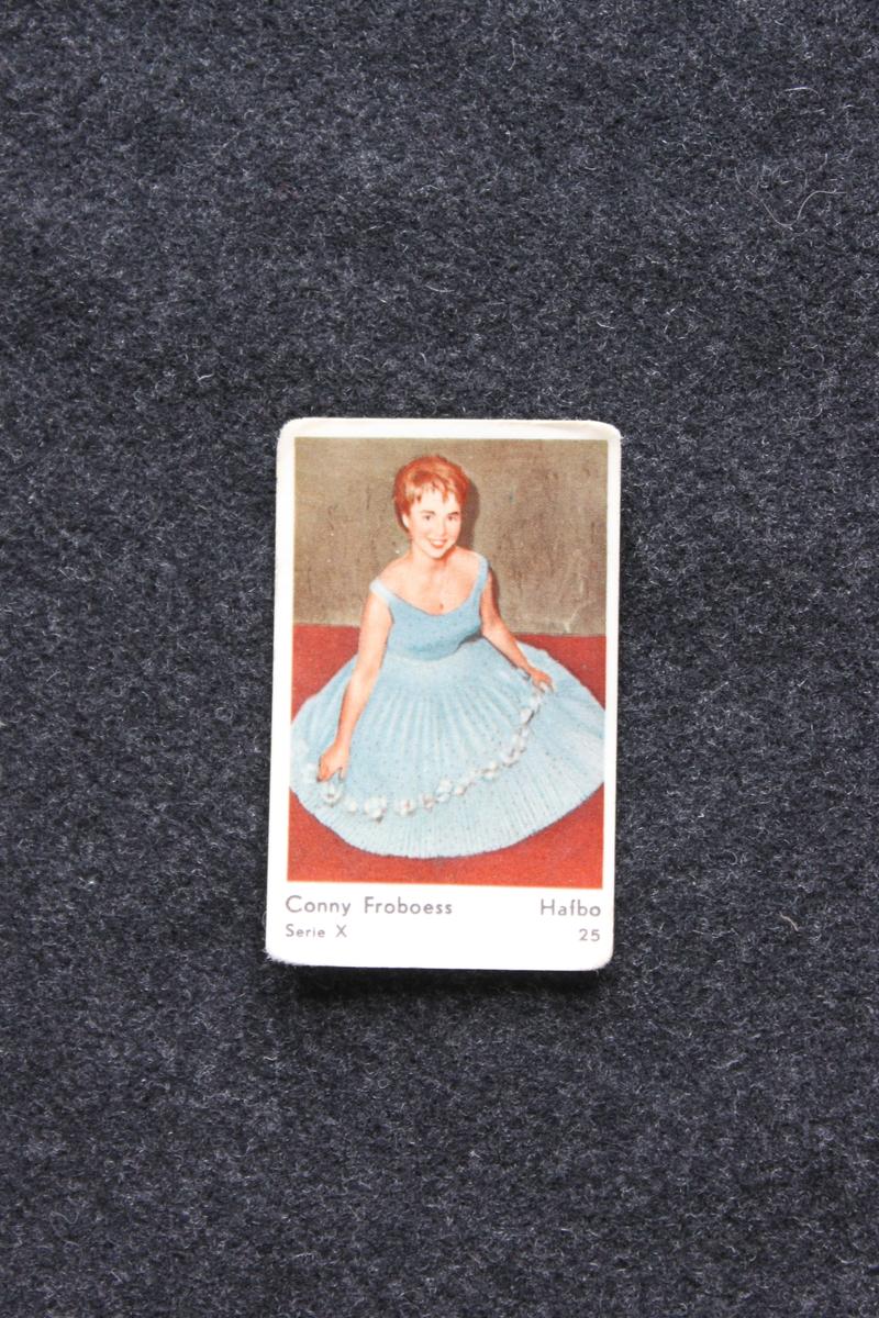 Filmstjärnebild med foto föreställande Conny Froboess