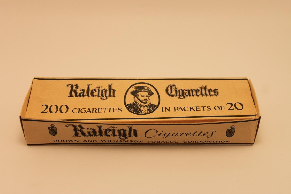 """Pappkartong sk """"limpa"""" för cigarettpaket."""