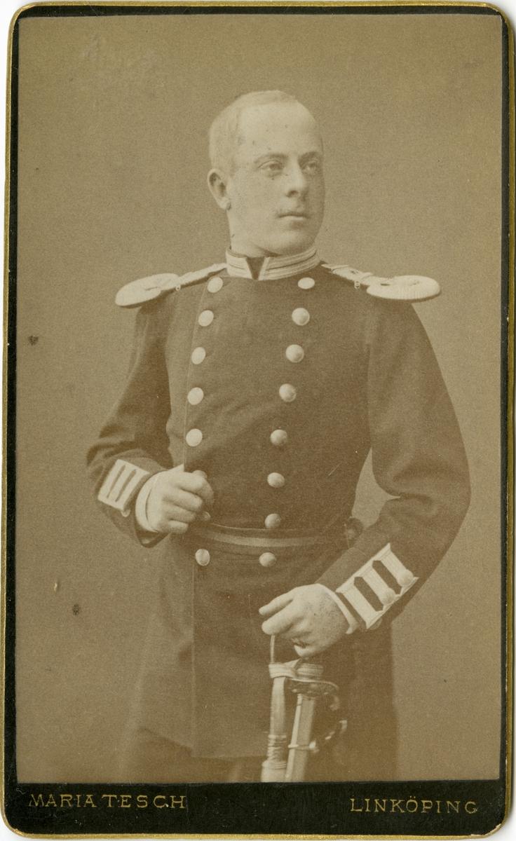 Porträtt av Carl Erik Hjalmar Ehrenkrona, officer vid Andra Livgrenadjärregementet I 5.