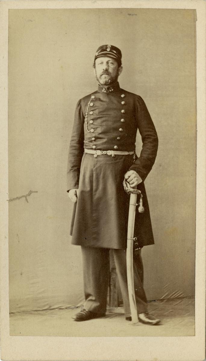 Porträtt av Johan August Carl Alexander von Feilitzen, kapten vid Södermanlands regemente I 10.
